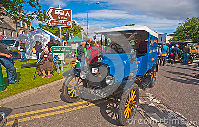 Ford van  at Grantown on Spey. Editorial Stock Image
