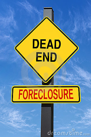 Foreclosure dead end sign