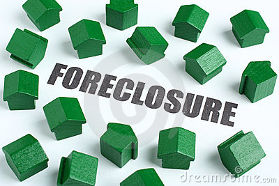 Foreclosure real estate concept