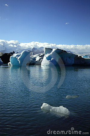 Foreground iceberg