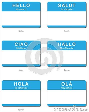 Foreign Language Hello sticker in European languag