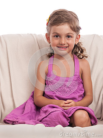 Foreseeing little girl portrait