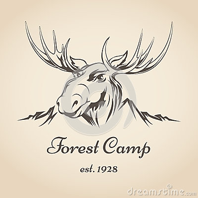 Free Forest Camp Logo Royalty Free Stock Images - 48501789