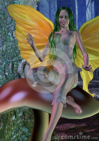 Forest Fairy Mushroom Rest