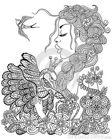 Forest Fairy With Wreath On Head