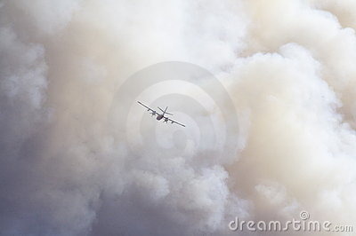 Forest fire fighting Editorial Stock Image