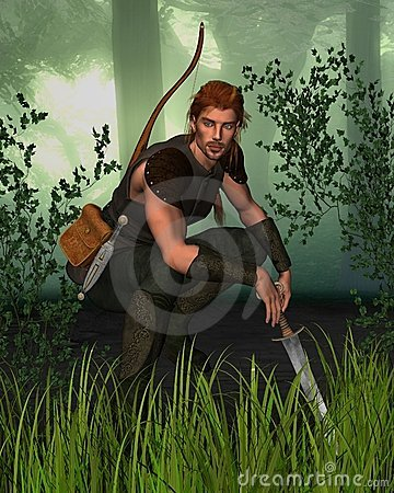 Free Forest Hunter With Background Stock Photography - 5202342
