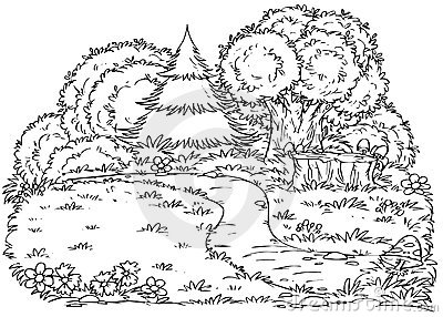 Black And White Forest Clipart 21125 | PCMODE