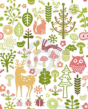 Free Forest Pattern Royalty Free Stock Photos - 18707968