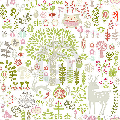 Free Forest Pattern Stock Photography - 20297832