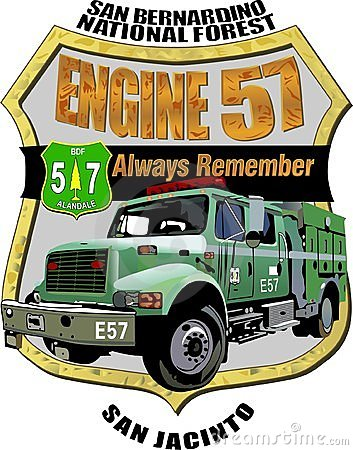 Forest Service Engine 57 Memorial Decal Editorial Photo