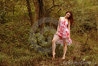 forest teen girl stock photo image 2031970