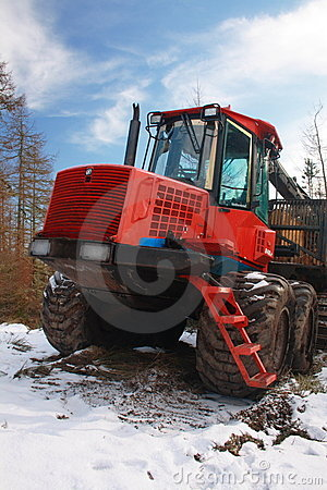 Forestry logging truck