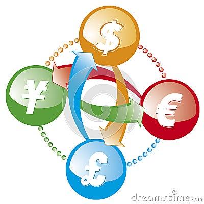 Forex money exchange icon