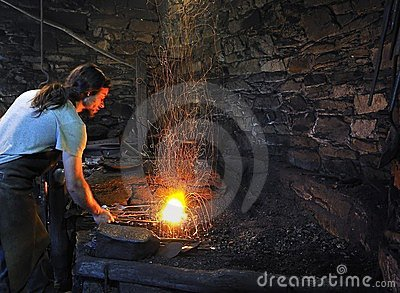 The forge. Editorial Stock Image