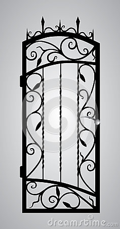 Forged gate door.