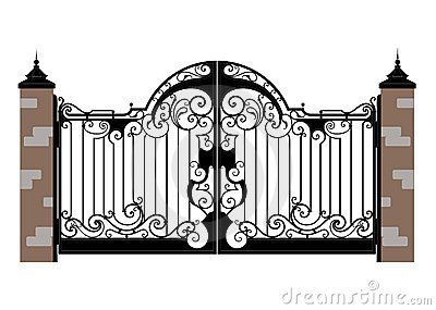 Forged Iron Gate Royalty Free Stock Photos Image 3141888