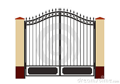 Forged Iron Gate Royalty Free Stock Image Image 3261476