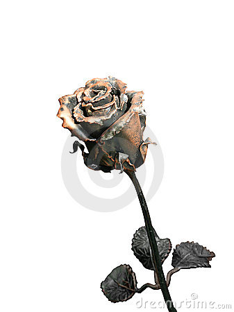 Free Forged Metal Rose Royalty Free Stock Photography - 16054097