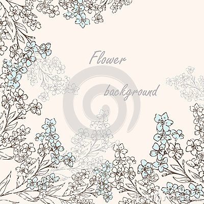 Forget-me-not pattern 2