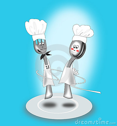 Free Fork And Spoon Animated Royalty Free Stock Photography - 13339567