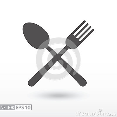 Free Fork And Spoon - Flat Icon. Sign Food Royalty Free Stock Photos - 83381258