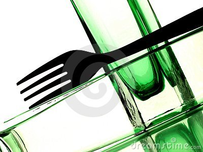 Fork in Bottle Abstract