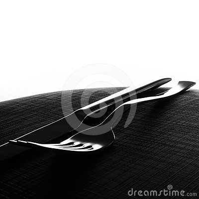 Fork and knife background