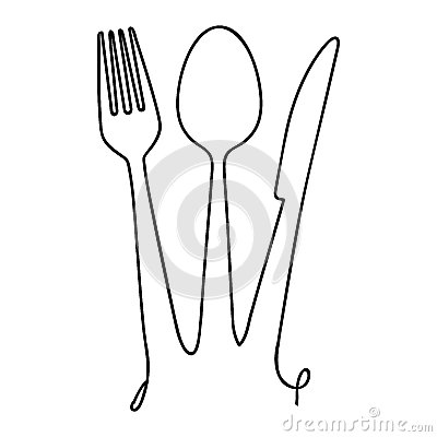 Fork knife spoon cutlery icon image Vector Illustration