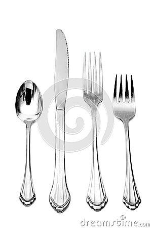 fork knife spoon dinner silver