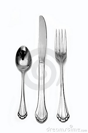Free Fork Knife Spoon Silverware Royalty Free Stock Photo - 2435565