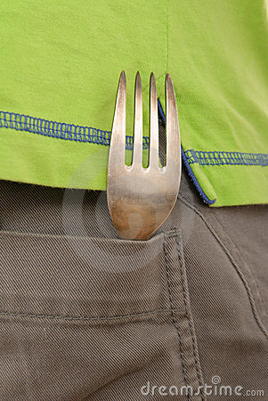 Fork lies in pocket