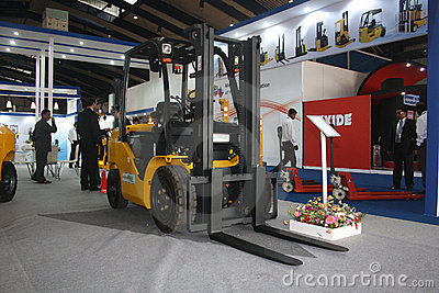 Fork Lift Truck at India Warehousing Show 2011 Editorial Image