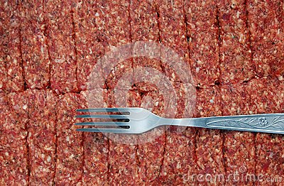 Fork and minced meat