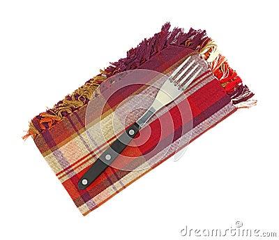 Fork on napkin