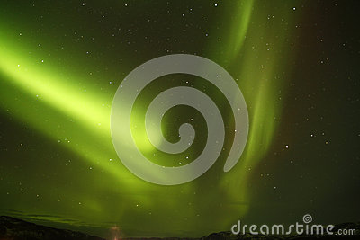 Amazing Forked Northern Lights
