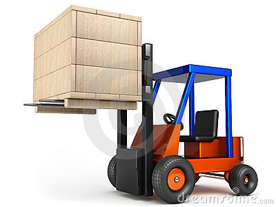 Forklift hoist wooden box