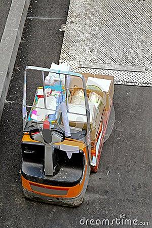Forklift at ramp