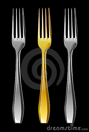 Free Forks, Illustration Royalty Free Stock Photography - 3686737