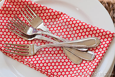 Forks servettstapeln