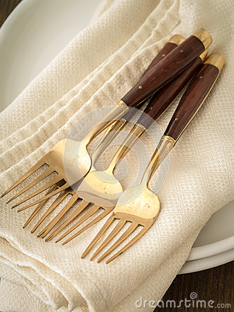 Forks at a wedding