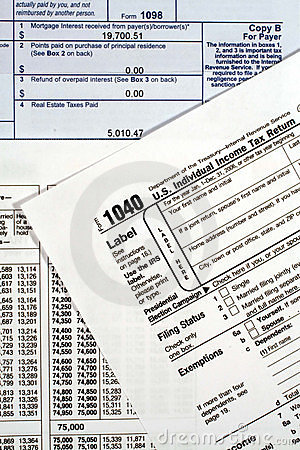Form 1040 income tax return royalty free stock images for 1040 tax rate table