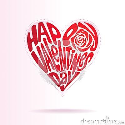 Forma di amore dei biglietti di S. Valentino