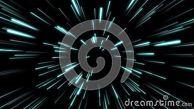 Forma linea Neon Blue e Red Light Dark Stress Semplice Zoom a velocità futuristica Cyber Sfocatura del fascio di sfondo royalty illustrazione gratis