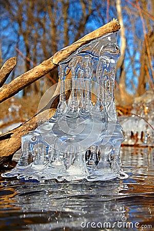 Formaciones de hielo hermosas Illinois