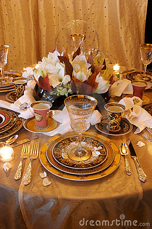 Formal Dining room place setting