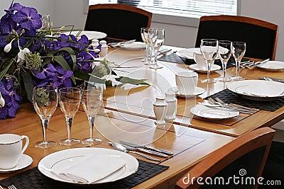 Formal Dining Sets on Stock Images  Formal Dining Table Set Up  Image  8914324