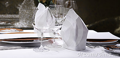 Formal Dining Table Set Up Stock Photo Image 50121528