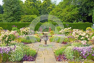 Formal English garden.