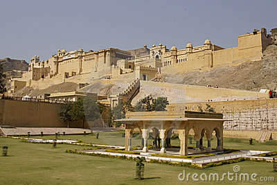 Formal Garden at Amber Fort